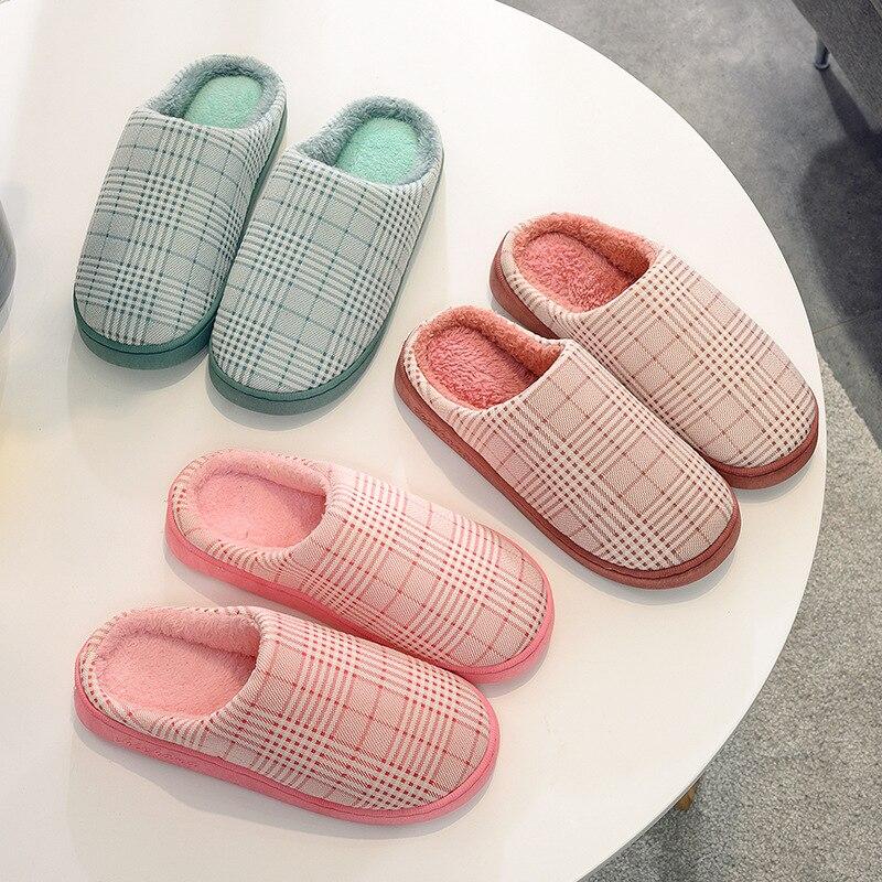New Cotton Slippers For Women In Winter Home Warming Household Cotton Slippers For Men Household Floor Slip-proof Soft Bottom