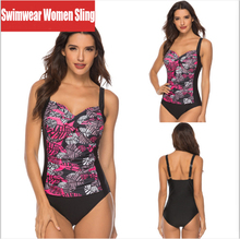 Summer Swimwear Women Sling Backless One Piece Slim Swimsuit Multi-choice Solid Bathing Suits Bikini Padded Beachwear