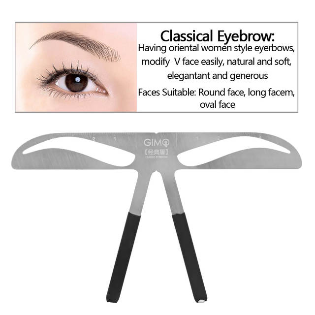 Us 3 94 21 Off Eyebrow Shape Stencil Permanent Makeup Tattoo Kit Supply Diy Template Ruler Reusable Beauty Cosmetic Tools For Makeup Beginners In