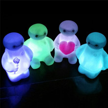 Cartoon Night Light Switch Character Led Bulbs Lamp With Battery Portable Creative Nightlight For Children Kids Baby Bedroom