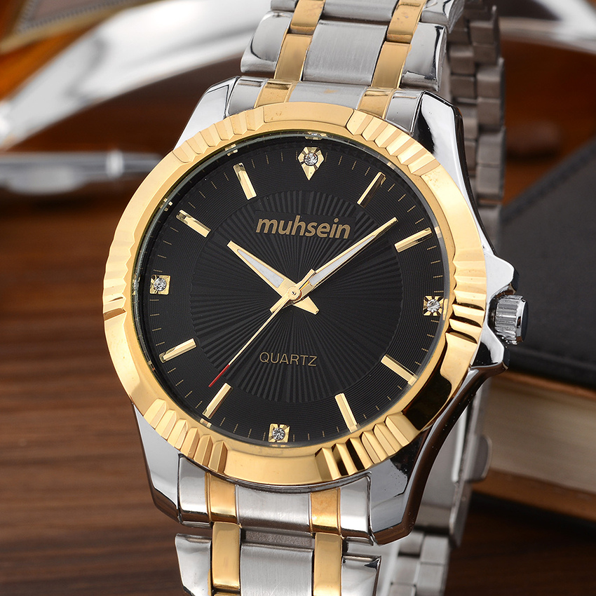 new  fashion business elegant stainless steel watch with waterproof quartz watch fashion men watch fashion elegant m