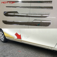 For Toyota SIENTA 2016 ABS Chrome Side Door Body Molding Cover Trim Car Styling
