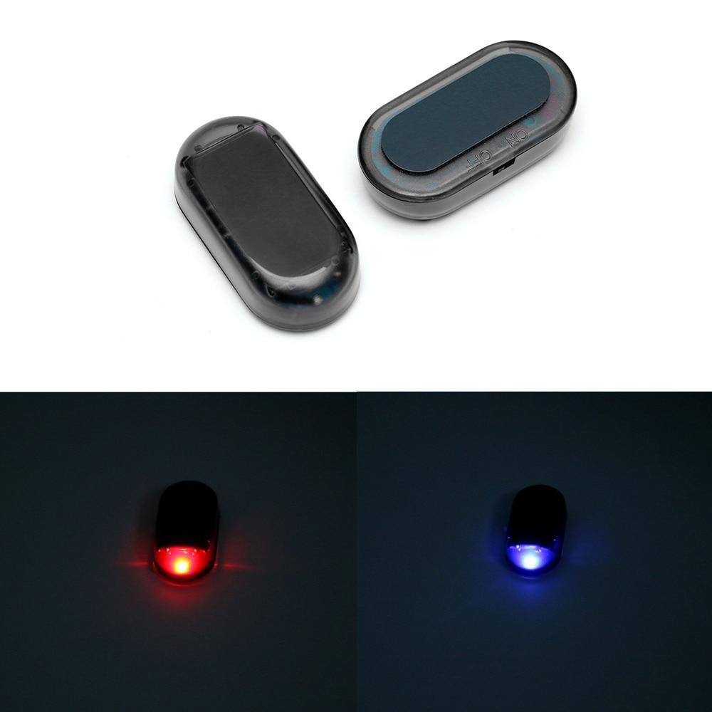 1 шт солнечной энергии Манекен поддельные имитация сигнализации оповещения безопасности противоугонная LED мигающий свет-красный/синий Бесплатная доставка