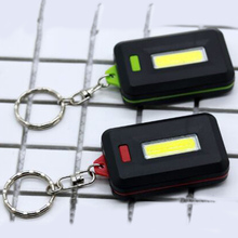ZK20  Keychain Lamp COB LED Flashlight Light Mini Lamp Key Chain Ring Torch Keyring Green/Red Key Finder Find Lost Keys