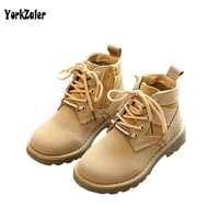 Yorkzaler AutumN Winter Kids High Top Shoes Fashion Children Boy Girl Boots Sport Shoes Leather Solid