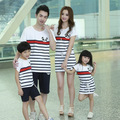 Panda rayas familiar vestido de ropa y conjuntos de ropa para la madre e hija padre e hijo de la familia ropa de vestir ropa, WH20