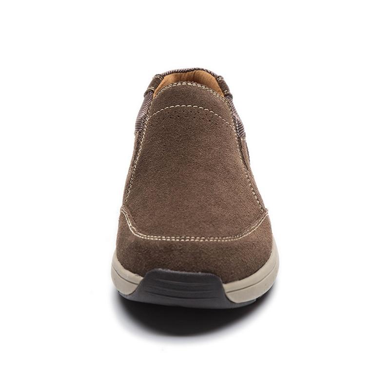 on Mocassin Loafers 2018 Dos Mocassins B Dark Homens Brown De Couro Homme Masculino Sapatos Casuais Genuíno Slip Sapato Novos wO4Sqx1wP