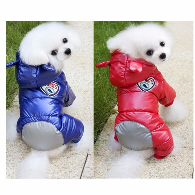 3d1e76adba5 FK9 New Waterproof Dog Warm Coat Winter Pet Dog Jumpsuit Clothes Thickening  Dog Down Jacket Clothing For Yorkshire ski suit