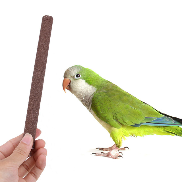 1pcs Parrot Toys Cage Bird Perch Stand Platform Chew Toy Paw Grinding Clean Bird Toys for Bites Parakeet Random Color