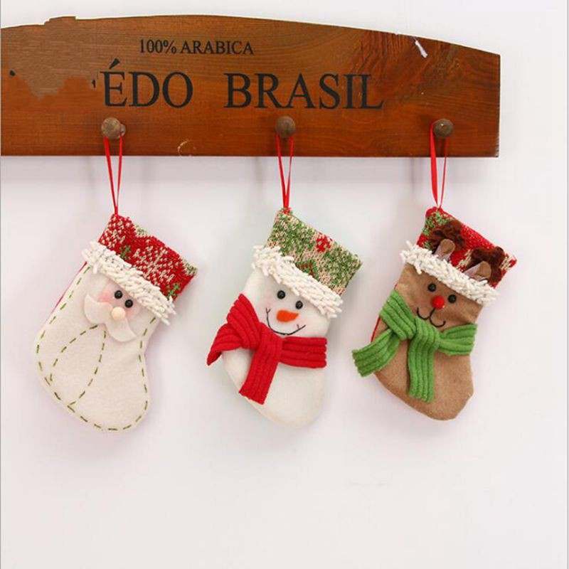 Gift For New Year 2018 Christmas Decor Party Decorations Santa Claus Christmas stocking Candy Socks Christmas Gifts Bag For Home