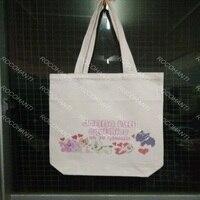 ROCOHANTI NUR $15 Leinwand Einkaufstasche Einkaufstasche Mit Benutzerdefinierten Logo Druck Weiße Farbe 42X35X10 CM