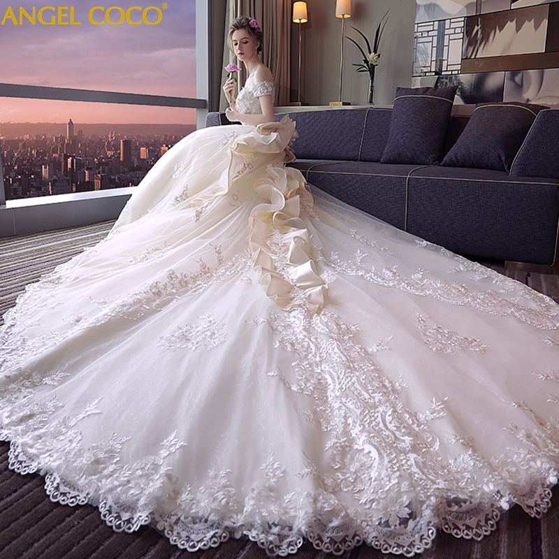Maternity Wedding Dress Real Photo High Quality Royal Pregnancy Wedding Dresses 2019 Off The Shoulder Bride Gown Bridal Dress