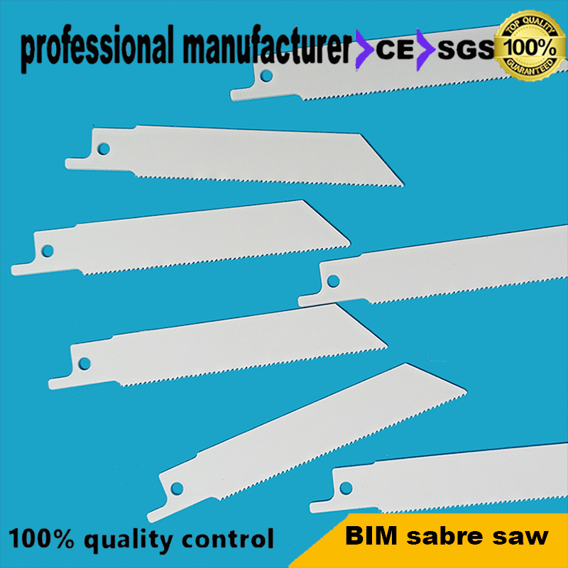 Reciprocating Saw Blade Made Of BIM 100mm Long 18tpi For Wood Steel Pipe Steel Nail Fast Cutting And Self Cleaning Recip Saw