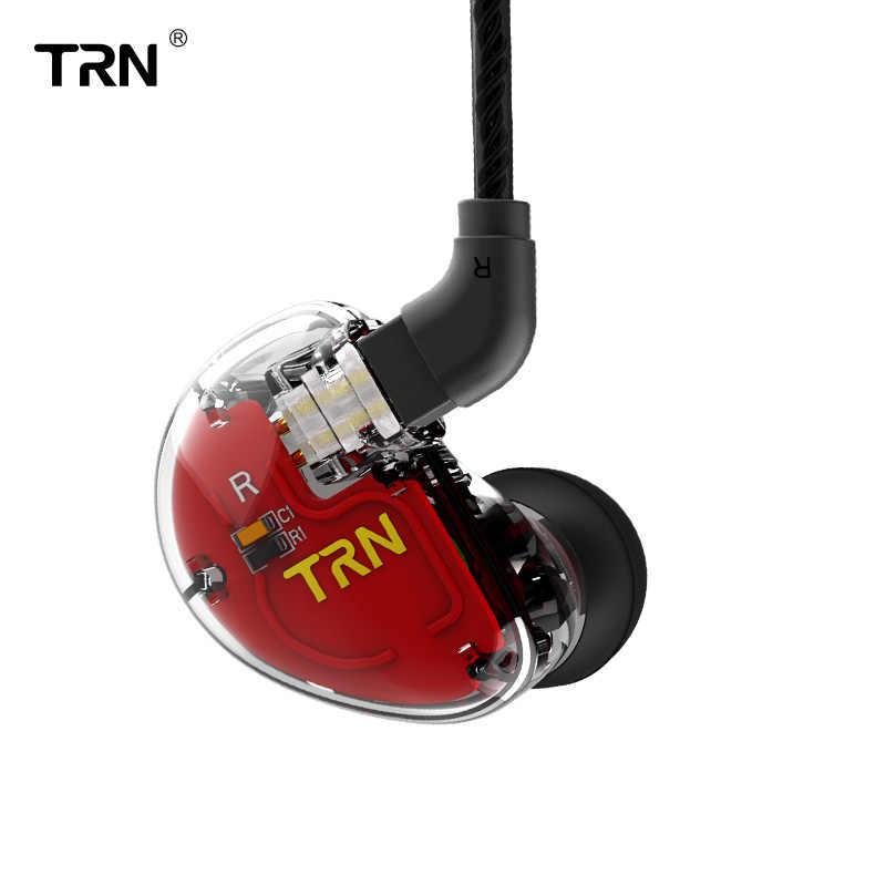 TRN V30 1DD + 2BA гибридные наушники HIFI монитор DJ наушники для бега гарнитура с 2PIN Съемная TRN V20/V80