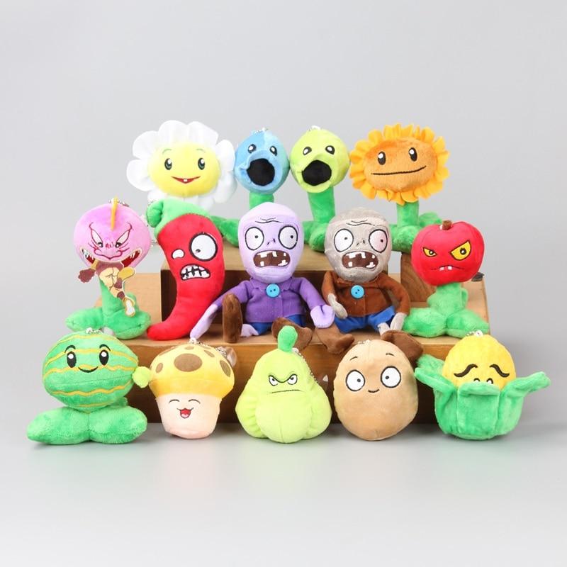 14 Pcs/Set PVZ Plants VS Zombies Soft Plush Toy Dolls Kids  Gift 9-16 CM winnie the pooh iphone case
