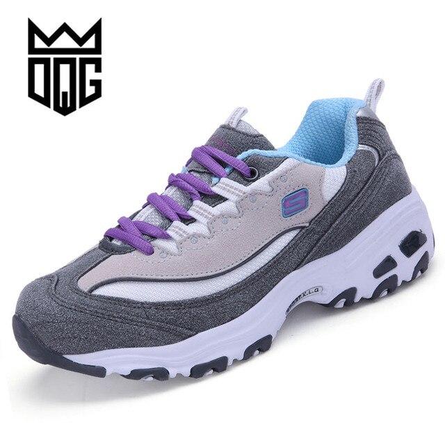 1fa26e263587 DQG 2018 unisexe Sport chaussures de course femmes baskets respirant maille  extérieur chaussures de Sport léger homme chaussures de formation