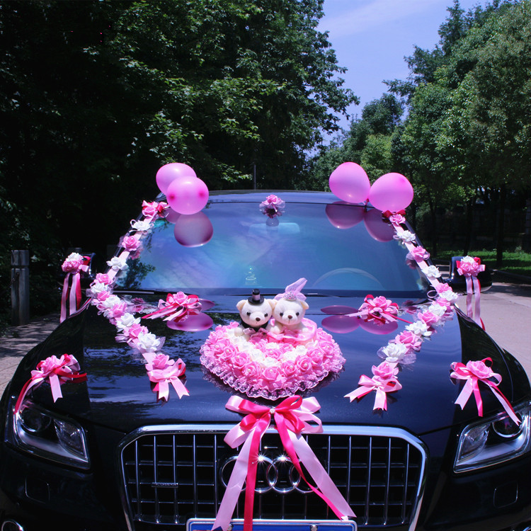 Image 4 - New Arrival  !  Wedding Cars Flower Cars  Wedding Centerpieces  Decor  Motorcade Simulation Flowers Set with Bear  Bridal FlowerParty  DIY Decorations