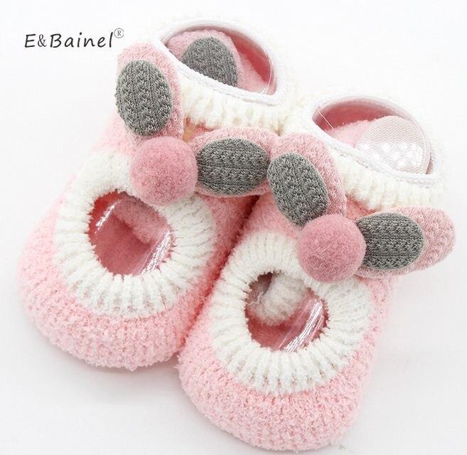 Coral Fleece Cute Cartoon Baby Socks Soft Floor Infant Baby Socks For Girls Anti Slip Warm Newborn Baby Boys Socks For Kids