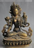 """Ev ve Bahçe'ten Statü ve Heykelleri'de S3881 6 """"tibet budizm bronz beyaz tara tanrıça pusa kwanyin buda tanrı heykeli"""