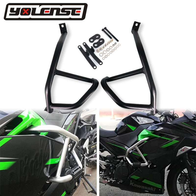 2020 Motorcycle Engine Guard Bumper Crash Bar Body Frame Protector For KAWASAKI NINJA400 NINJA250 NINJA 400 250 2018 2019