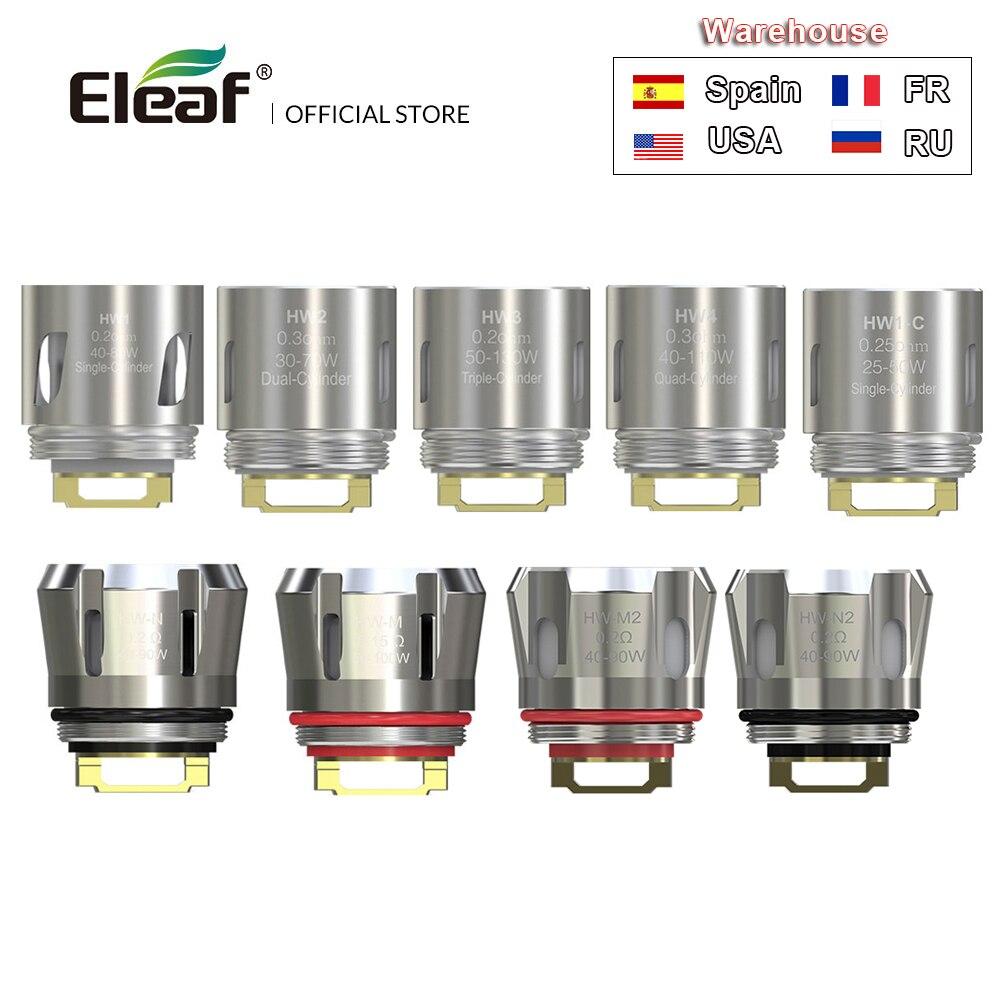 Entrepôt russe Original Eleaf HW bobine HW1/HW2/HW3/HW4 HW-M HW-N/HW-M double pour iJust 3 Kit/Ello Duro/Ello Vate Vape E Cig