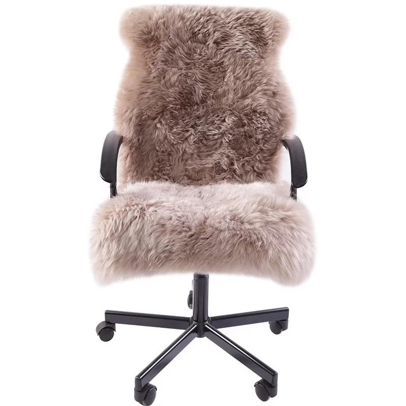 Tapis en peau de mouton naturel 1.3 P 60*130 cm chaise en peau de mouton pad fourrure canapé couverture chambre toboggan tapis paillasson pour décoration intérieure couverture