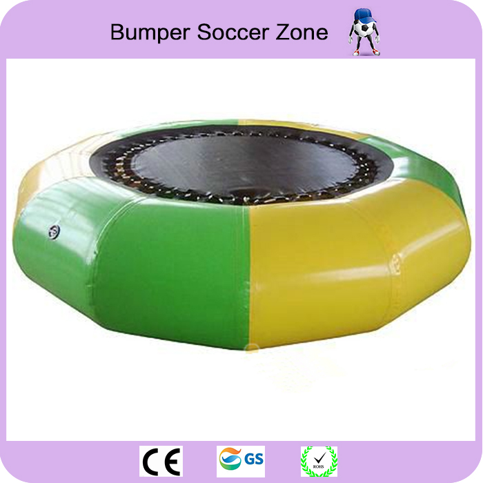 Free Shipping Dia 3m 0.9mm Inflatable Water Trampoline Water Jumping Bed Jumping Trampoline Free 1 Blower protable water trampoline 3m diameter inflatable water jumping bed water platform inflatable bouncer pool float toy