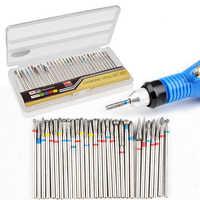 High Quality 30Pcs/Set 3/32'' Alloy Nail Drill Bit UV Gel Polish Remove Electric Drill Manicure Pedicure File Tools
