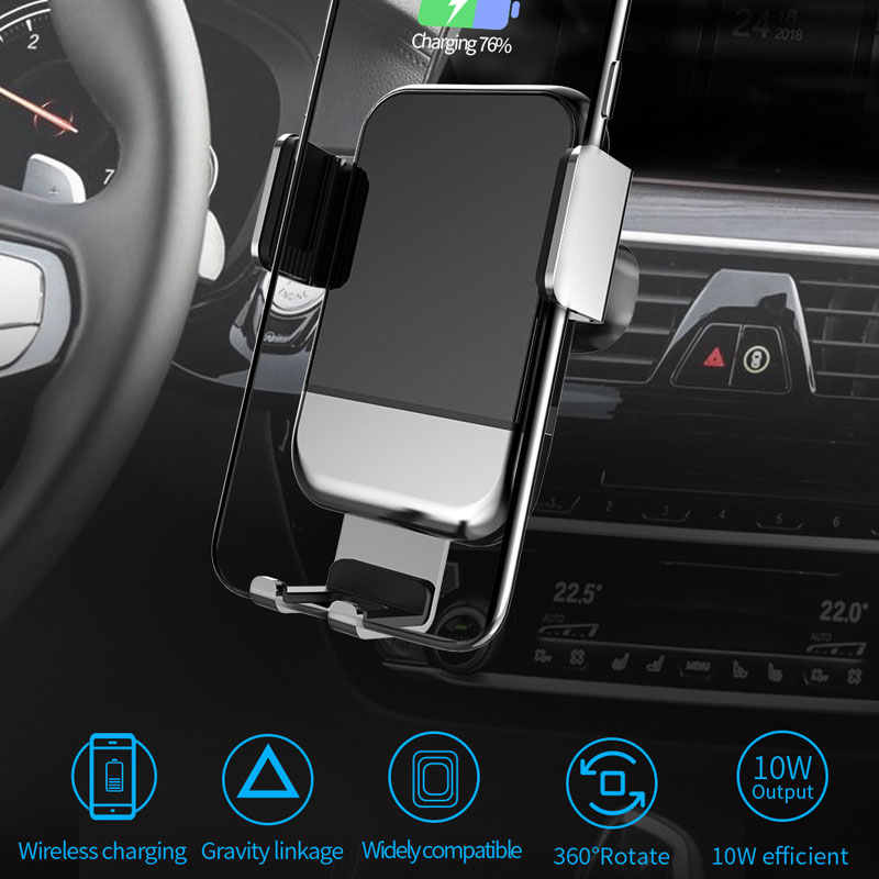 Soporte de teléfono para coche 2 en 1 con cargador de coche inalámbrico para iPhone XS Max X XR 8 soporte de carga inalámbrica rápida para Samsung S10 Xiaomi Versión mundial Realme Pro X2 X2 8 GB 128 GB del teléfono móvil Snapdragon 855 Plus 64MP cámara Quad NFC teléfono móvil de 50W Cargador Rápido