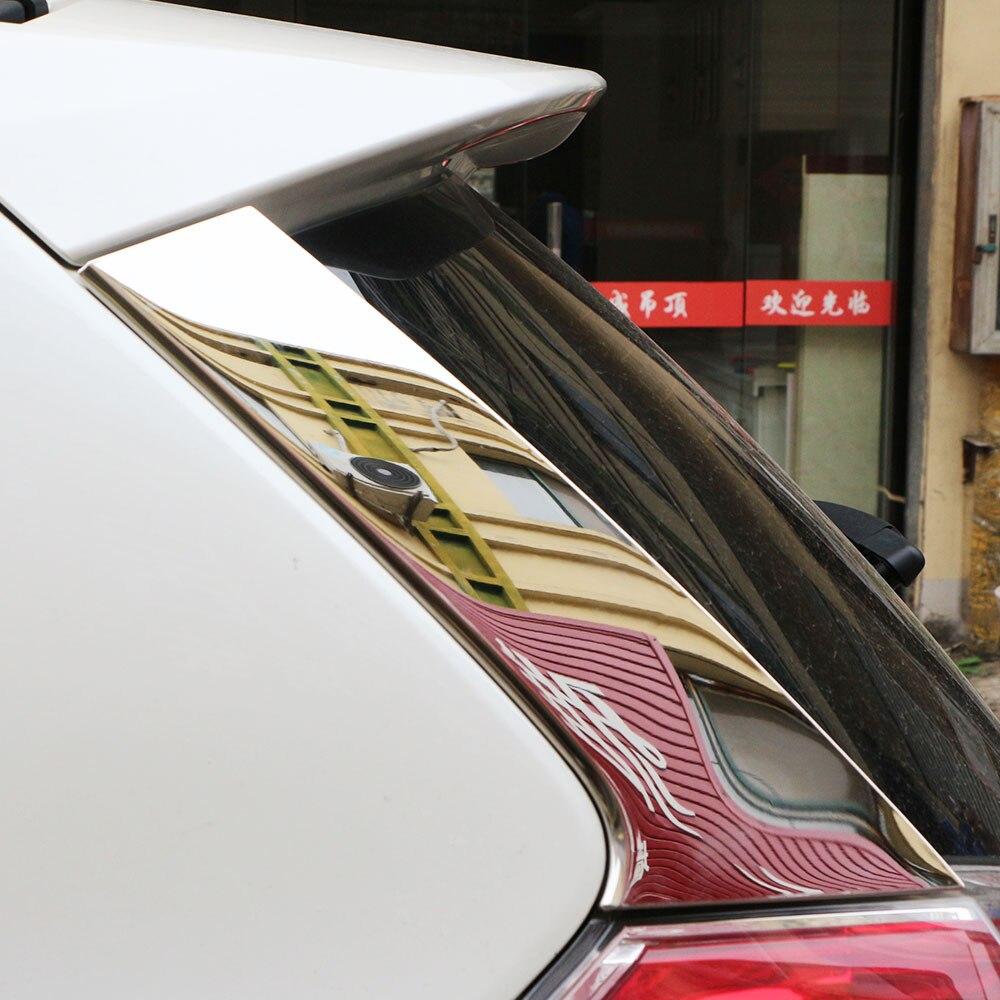 Carmilla 2Pcs Set Car Rear Window Side Wing Cover Trim Sticker for Nissan X Trail Xtrail