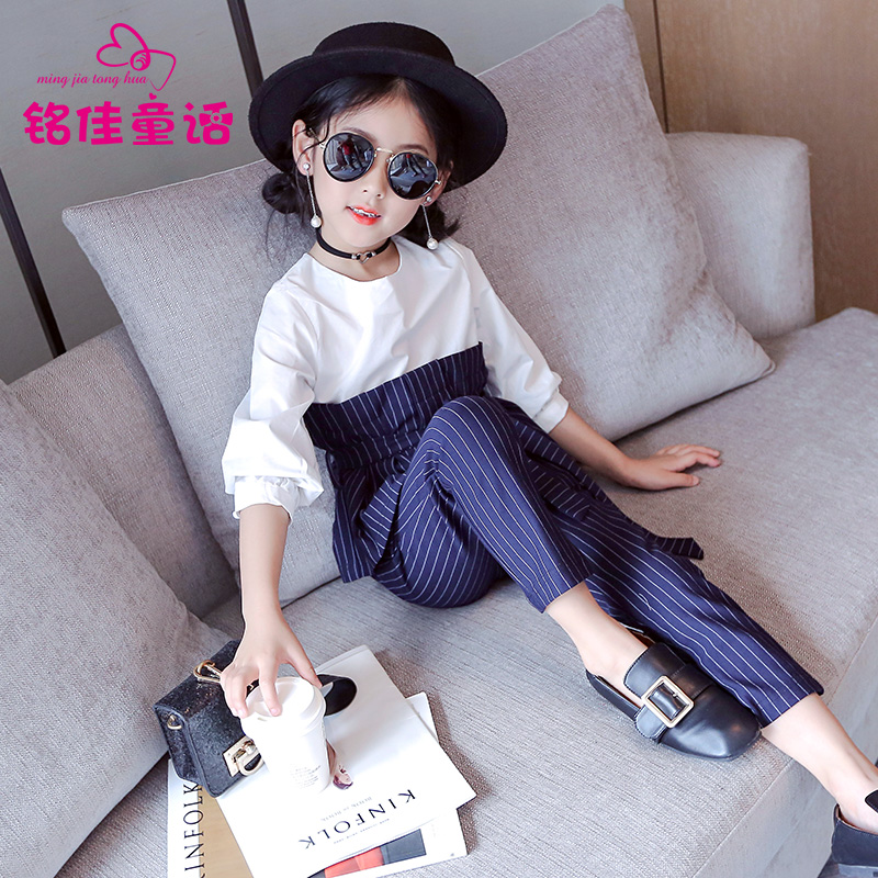 Girls clothes autumn long sleeved 2017 new fashion two piece suit for 4 5 6 7 8 9 10 11 12 13 years old children's clothing set river old satellite maxima vespa 7 6 гр код цв 13