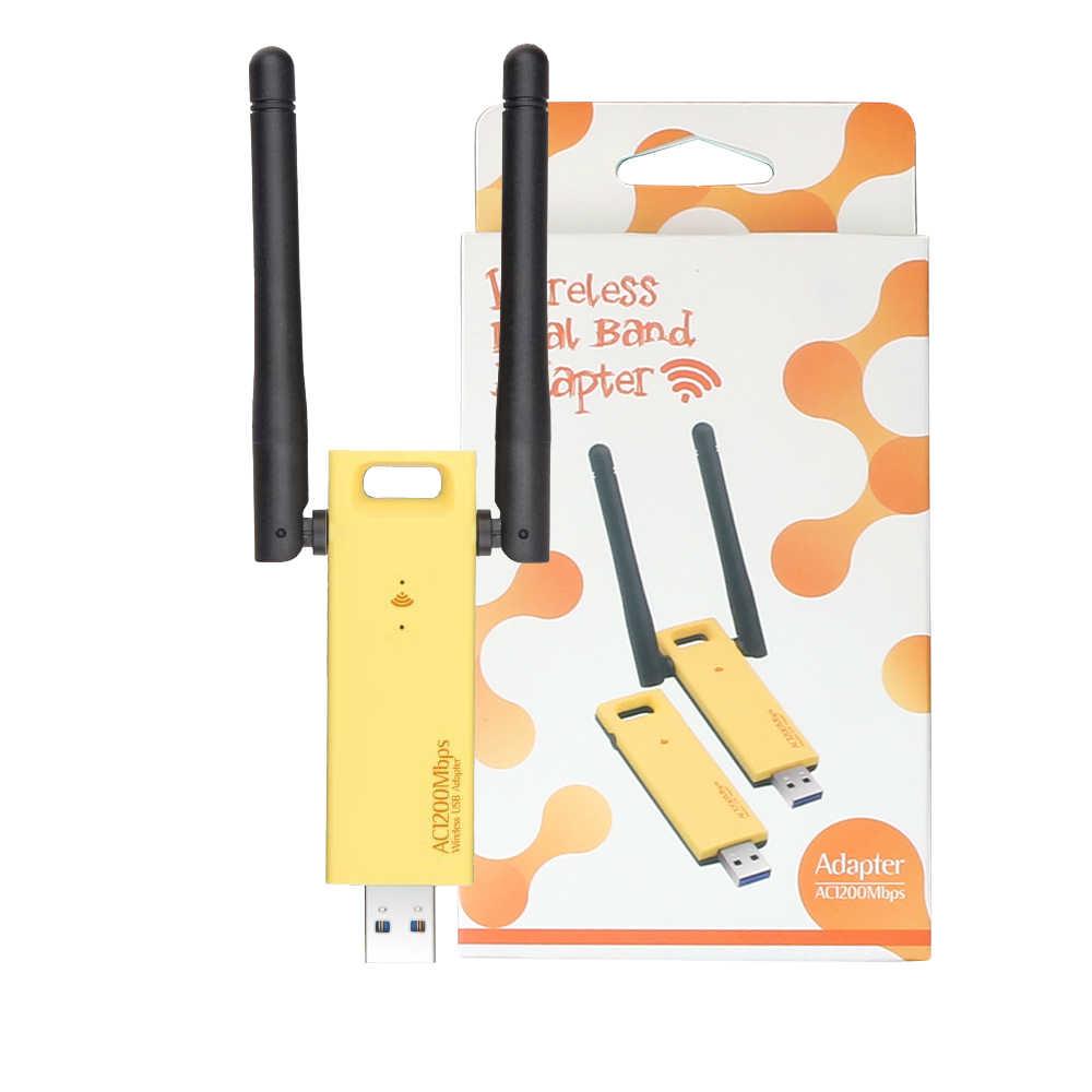 להקה כפולה 802.11ac 1200Mbps USB 3.0 Wifi אלחוטי-AC כרטיס Realtek RTL8812AU Dongle אנטנות מתאם עבור Windows 7 /8/10/Mac OS