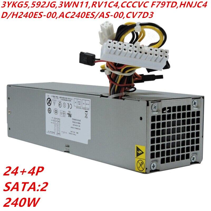 New PSU For Dell 3010 7010 9010 390 790 990 240W Power Supply 3YKG5 3WN11 RV1C4 F79TD D240ES/H240ES-00 AC240ES-00 AC240AS-00