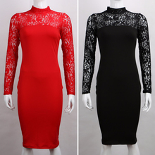 Bandage Bodycon Turtleneck Long Sleeve CD & Tgirl Dress
