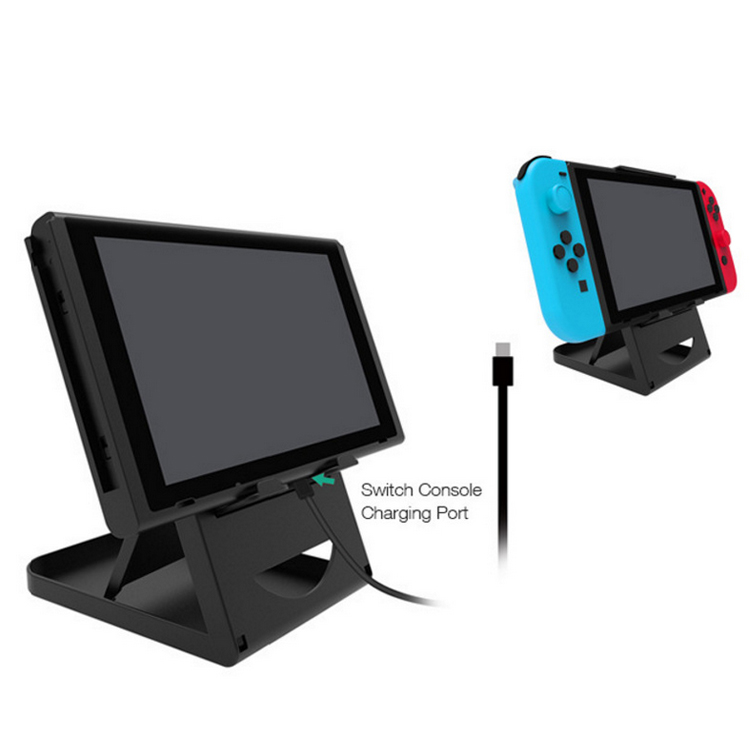 Video Game Console Holder Console Charging Stand (via USB Cable, Not included) for Nintend Switch Game Console Holder Stand