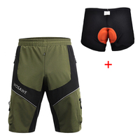 Wosawe MTB Road Men S Cycling Loose Shorts Mountain Bike Bicycle Leisure With 3D Padded Underpants