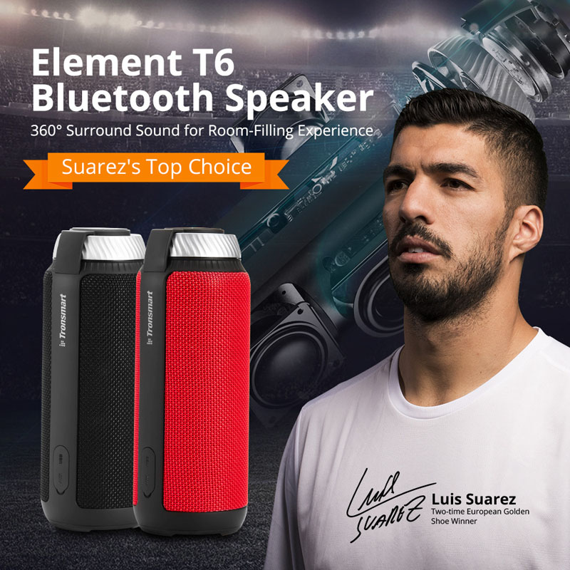 Tronsmart Element T6 Portable Outdoor Bluetooth Speaker Audio Wireless Mini Music Player avr mx321 fast