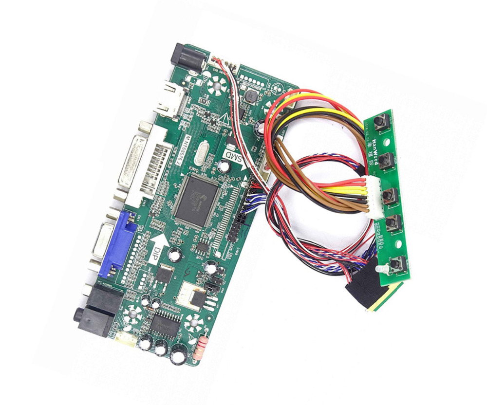 M.NT68676 HDMI DVI VGA LED LCD Controller board Kit DIY for LP156WH4(TL)(A1)/(TL)(B1) 1366X768 panel monitor-in Laptop Repair Components from Computer & Office on