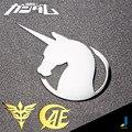 Gundam Metal Creativo Logo Tarjeta de Suministros de Automoción Coche Modificado Pegatinas de Coche Personalizado Coche Decorativo Logo JSD-3234