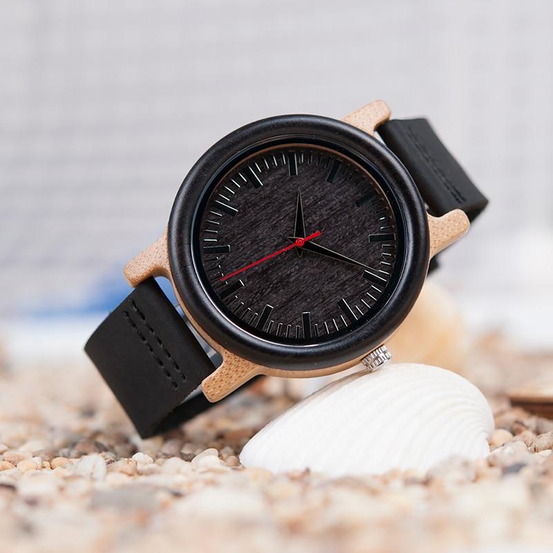 BOBO BIRD M13 Ebony ξύλινο αναλογικό ρολόι - Ανδρικά ρολόγια - Φωτογραφία 6