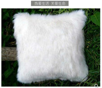 fur pillow cover imitation snow fox cushion cover white fur throw pillow case sofa Home Decor New Home Gift Pillow Nursery