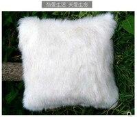 fur pillow cover imitation snow fox cushion cover white fur throw pillow case sofa Home Decor New Home Gift Pillow Nursery