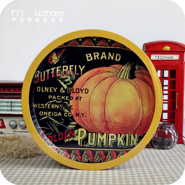 Canducum disk disc 13 tin tray candy tray pumpkin decoration muons pallet