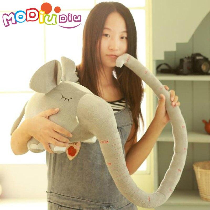 Clearence Elephant Плюшени играчки Меки плюшени животни слон кукла с дълъг нос скала измерване на подарък за деца