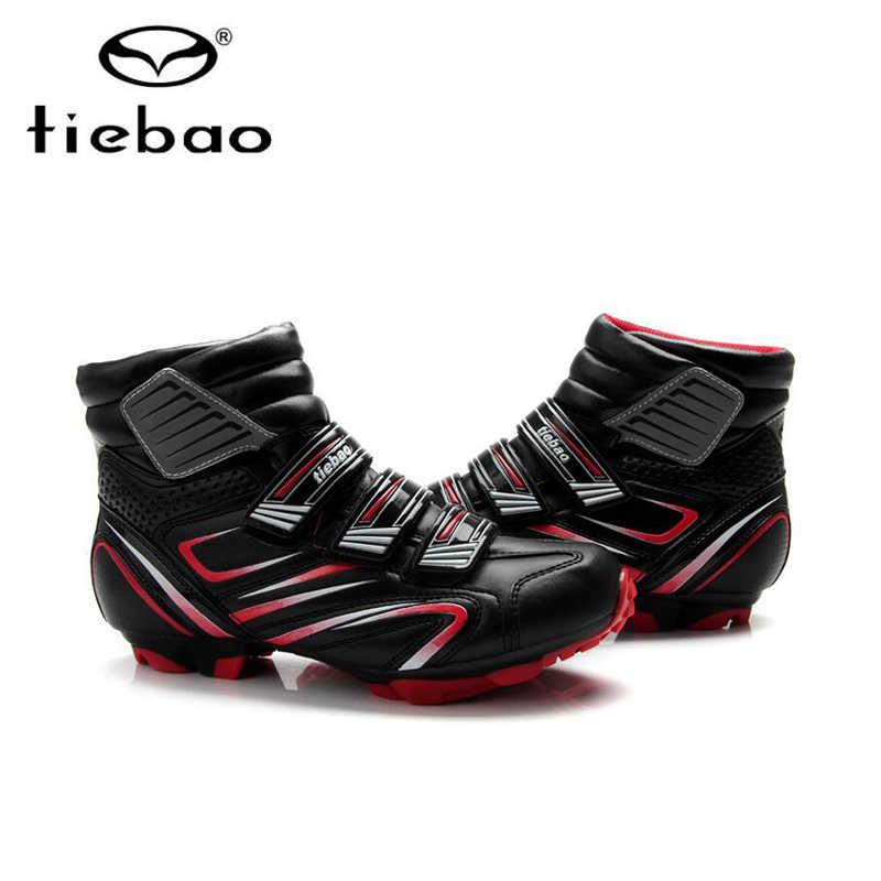Tiebao, zapatos de ciclismo de Invierno, MTB sapatilha ciclismo spd, pedales autoblocantes, zapatos de bicicleta de montaña, zapatillas de ciclismo mtb, zapatillas