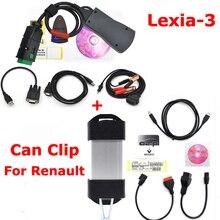 For Renault Can Clip V174 + Lexia3 PP2000 Diagbox V7.83 Lexia 3 Lexia-3 V48 PP2000 V25 OBD2 Diagnostic Tool by DHL