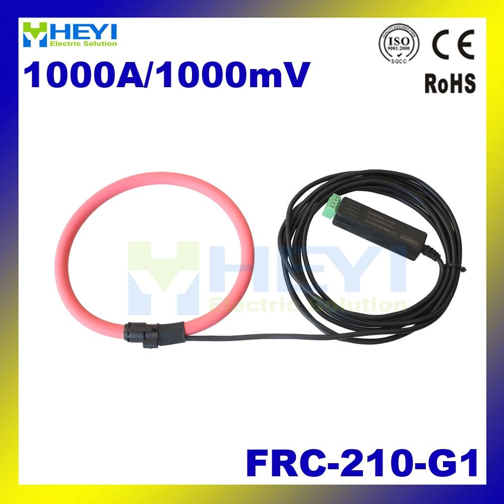 Red rogowski coil FRC-210-G1 Input : 1~1000A Output : 1V transformer coil rogowski air core coil