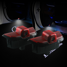 2Pcs for Mercedes Benz LED Door Logo Welcome Light Laser Projector Ghost Shadow W204 C Class C180 C200 C350 lamp no-circle