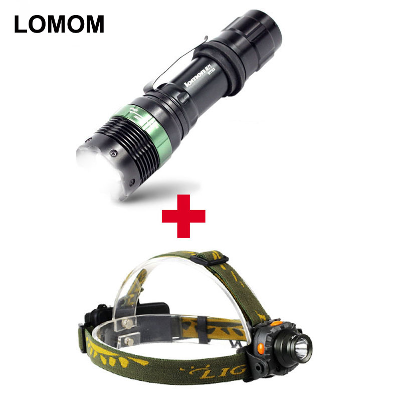 LOMOM 5W Waterproof Rechargeable Q5 Cree LED Headlamp Aluminum Headlight 18650 Camping Hunting Lamp AAA