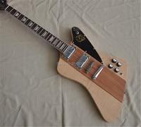 Free shipping Flamed Maple top Mahogany body Neck through Body Firebird Electric guitar